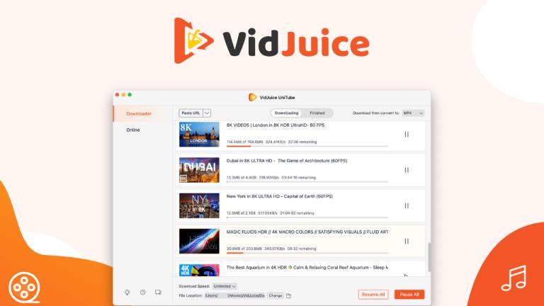 VidJuice UniTube Crack 2022 & Registration Key 3.8.0 Version Download